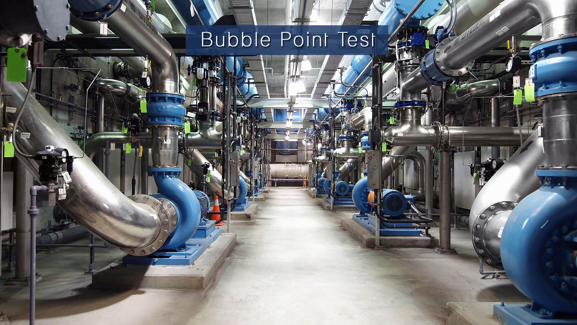 Bubble Point Test Filter Concept